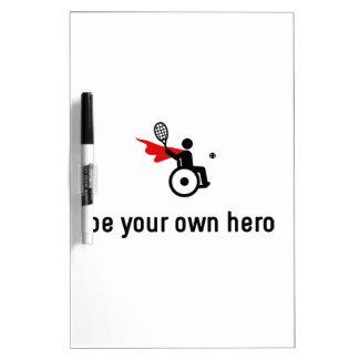 Wheelchair Tennis Hero Dry Erase Board