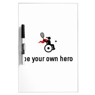 Wheelchair Tennis Hero Dry-Erase Board
