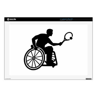 Wheelchair tennis laptop skin