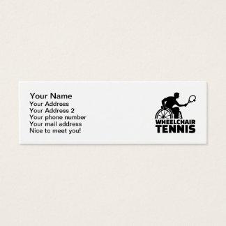 Wheelchair tennis mini business card