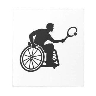 Wheelchair tennis notepad