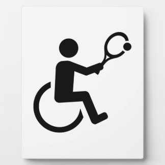 Wheelchair tennis plaque