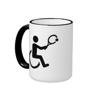 Wheelchair tennis ringer mug