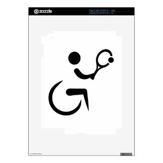 Wheelchair tennis skins for iPad 2