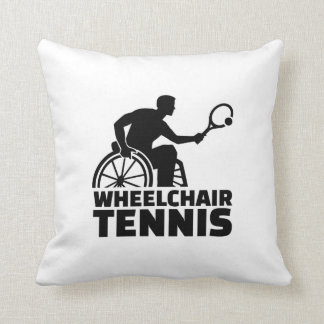 Wheelchair tennis throw pillow