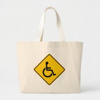 Wheelchair Traffic Highway Sign Bag