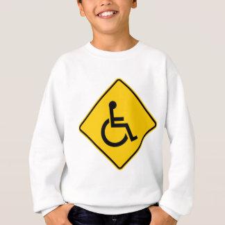 Wheelchair Traffic Highway Sign Sweatshirt