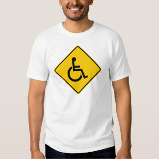 Wheelchair Traffic Highway Sign T Shirt