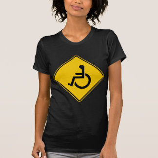 Wheelchair Traffic Highway Sign Tshirts