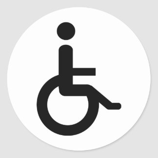 wheelchair user classic round sticker