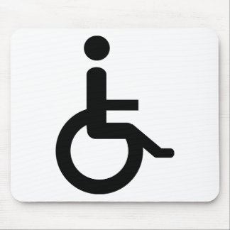 wheelchair user mouse pad