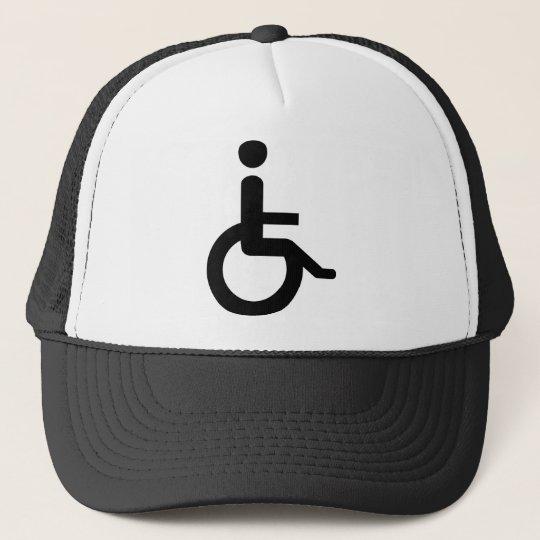 wheelchair user trucker hat