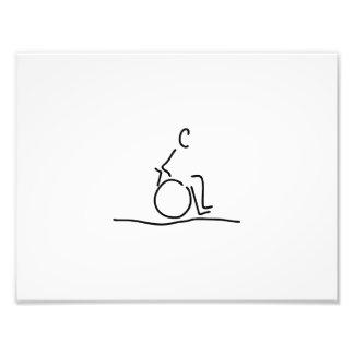 Wheelchair user wheelchair obstructs photo print