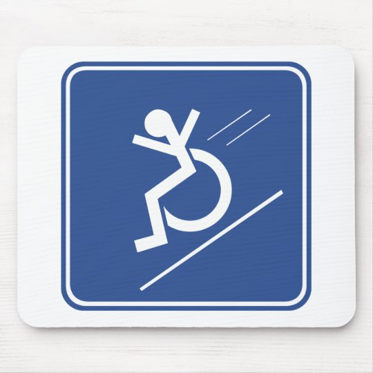 Wheelchair Whee! Mouse Pad