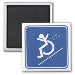Wheelchair Whee! Refrigerator Magnet
