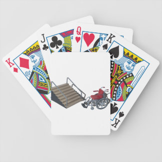 WheelchairAndStairs080214 copy Bicycle Playing Cards