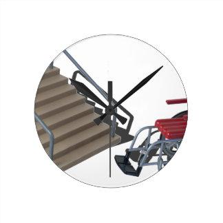 WheelchairAndStairs080214 copy Round Clock