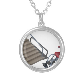 WheelchairAndStairs080214 copy Silver Plated Necklace
