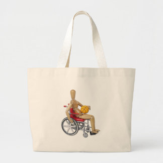 WheelchairBasketball Tote Bags