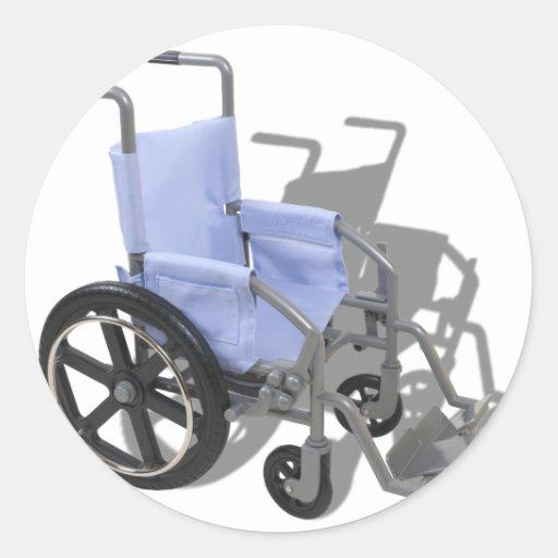 WheelchairBlueSeat073110 Pegatina Redonda