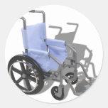 WheelchairBlueSeat073110 Round Stickers