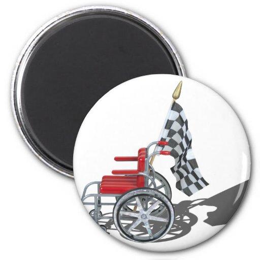 WheelchairCheckeredFlag090912.png Fridge Magnet
