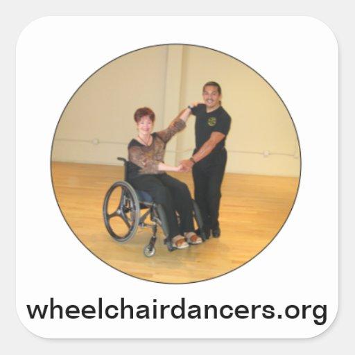 wheelchairdancers.org pegatina cuadrada