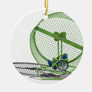 WheelchairExerciseWheel030313.png Ceramic Ornament