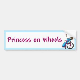 WheelchairPrincessBumper Etiqueta De Parachoque