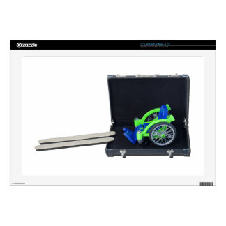 """WheelchairRampInBriefcase062115 17"""" Laptop Decal"""