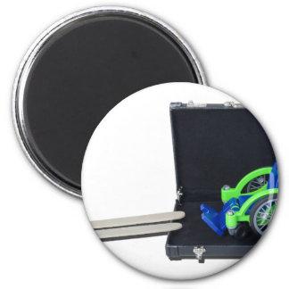 WheelchairRampInBriefcase062115 2 Inch Round Magnet