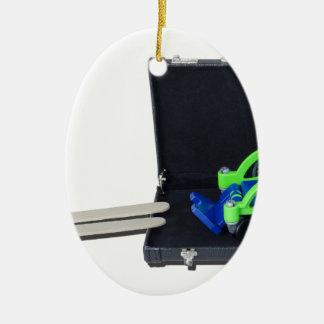 WheelchairRampInBriefcase062115 Ceramic Ornament