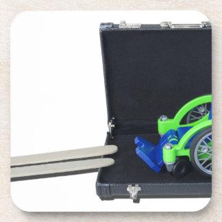 WheelchairRampInBriefcase062115 Drink Coaster