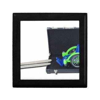 WheelchairRampInBriefcase062115 Keepsake Box