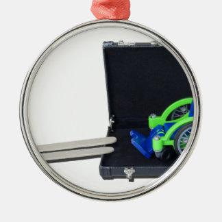 WheelchairRampInBriefcase062115 Metal Ornament
