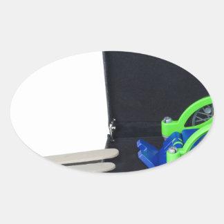 WheelchairRampInBriefcase062115 Oval Sticker