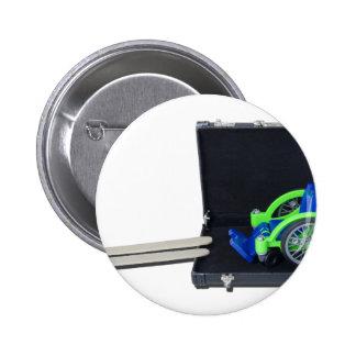 WheelchairRampInBriefcase062115 Pinback Button