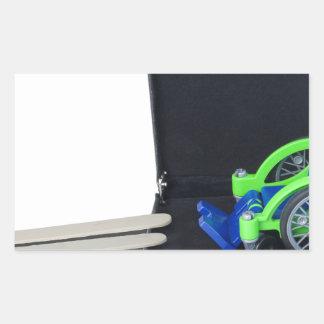 WheelchairRampInBriefcase062115 Rectangular Sticker