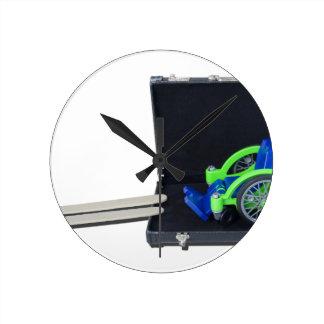 WheelchairRampInBriefcase062115 Round Clock