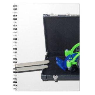 WheelchairRampInBriefcase062115 Spiral Notebook