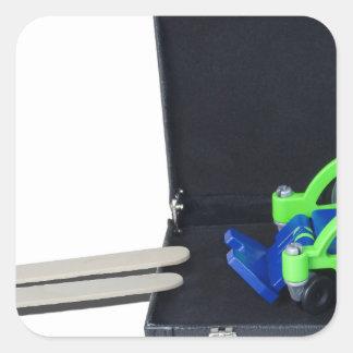 WheelchairRampInBriefcase062115 Square Sticker
