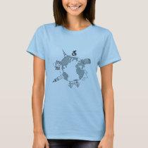 """Wheelchairs Go Places"" Black & White Design T-Shirt"