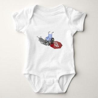 WheelchairStopSign103110 Baby Bodysuit