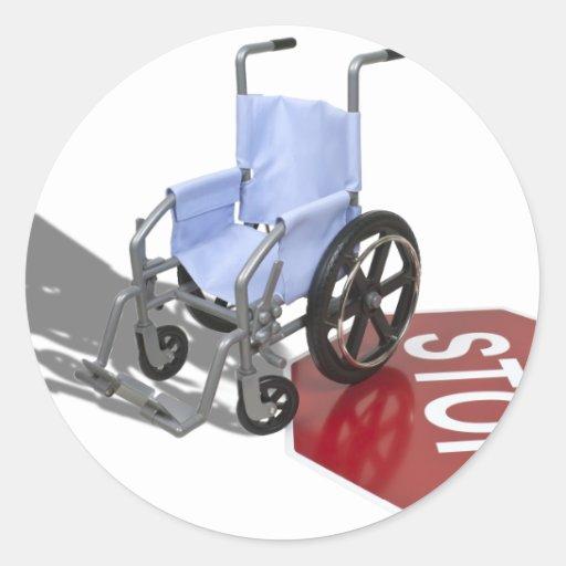 WheelchairStopSign103110 Round Sticker