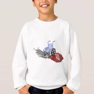 WheelchairStopSign103110 Sweatshirt