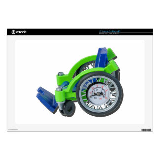 "WheelchairWithGauge062115 17"" Laptop Skin"