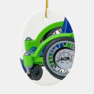 WheelchairWithGauge062115 Ceramic Ornament