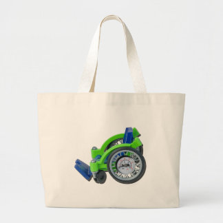 WheelchairWithGauge062115 Large Tote Bag