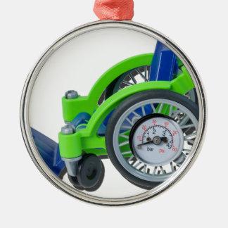 WheelchairWithGauge062115 Metal Ornament