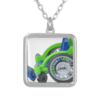 WheelchairWithGauge062115 Silver Plated Necklace